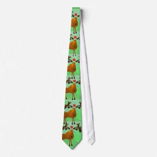 Christmas Moose Neck Tie