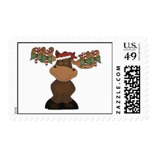 Christmas Moose Stamp
