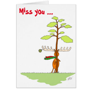 Christmas: Moose (Shy) Card