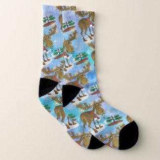 Christmas Moose Socks