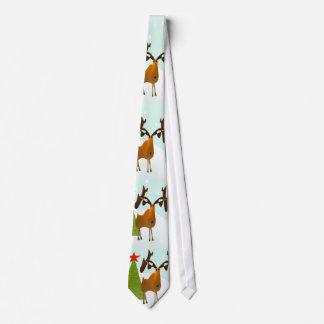 Christmas Moose Tie