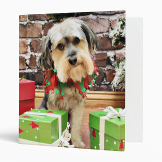 Christmas - Morkie - Cooper Binder