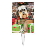 Christmas - Morkie - Cooper Cake Toppers