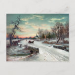 """CHRISTMAS MORN, c1885. Holiday Postcard<br><div class=""""desc"""">Lithograph after a painting by W.C. Bauer,  c1885.</div>"""