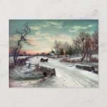 CHRISTMAS MORN, c1885. Holiday Postcard