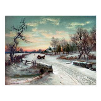 CHRISTMAS MORN, c1885. Postcard