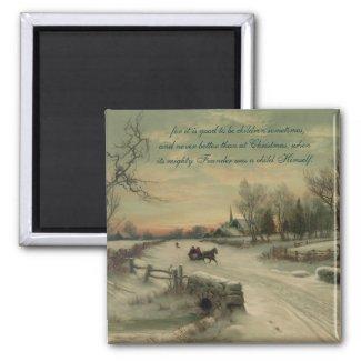 Christmas Morn - Magnet #1 magnet