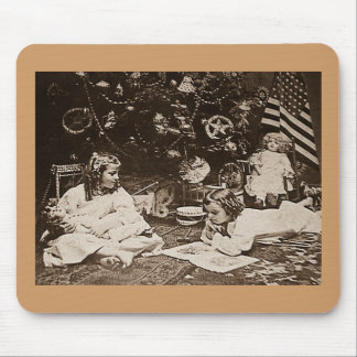 Christmas Morning 1901 Vintage Stereoview Mouse Pad