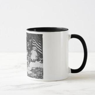 Christmas Morning 1901 Vintage Stereoview Mug