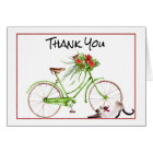 Christmas Morning Bicycle Thank You Card