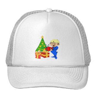 Christmas Morning Boy Baseball / Trucker Cap Trucker Hat