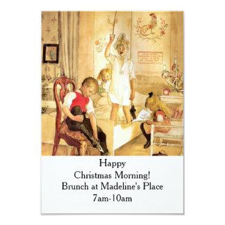 "Christmas Morning 3.5"" X 5"" Invitation Card"