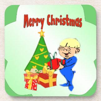 Christmas Morning Kid Beverage Coaster