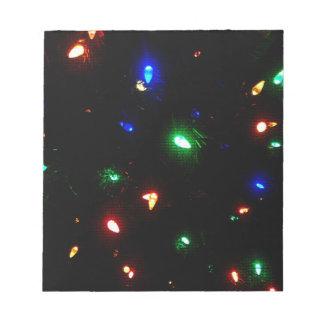 Christmas Morning Lights Notepad
