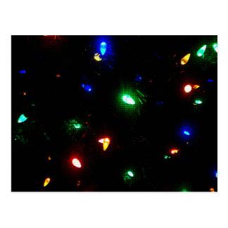 Christmas Morning Lights Postcard