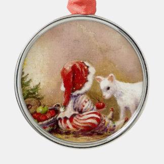 Christmas Morning Metal Ornament