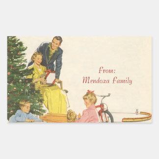 Christmas Morning Rectangular Sticker