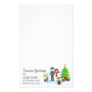 Christmas Morning Stationery Writing Paper