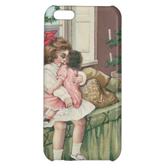Christmas Morning Tree Present Girl Doll iPhone 5C Cases