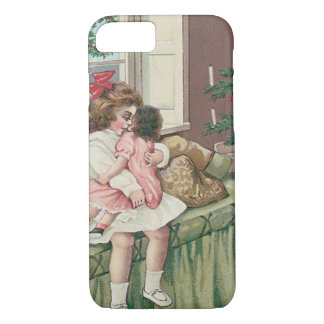 Christmas Morning Tree Present Girl Doll iPhone 7 Case