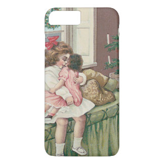 Christmas Morning Tree Present Girl Doll iPhone 7 Plus Case