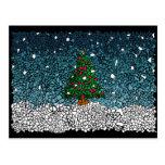Christmas mosaic postal