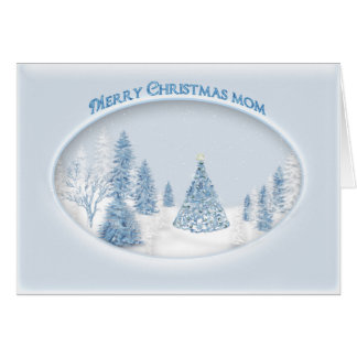 CHRISTMAS - MOTHER - SNOW/TREE/SCENIC CARD