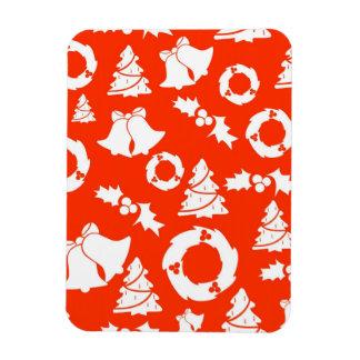 Christmas Motif Background Rectangular Magnets