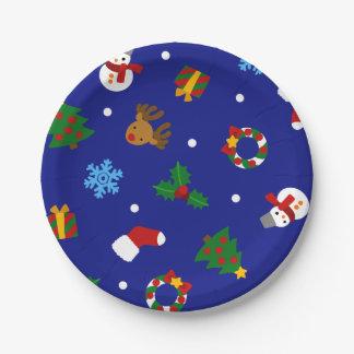 < Christmas motif seamless > Christmas motifs Paper Plate