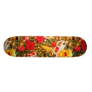 Christmas Motif Skateboard Deck