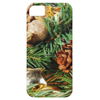 Christmas motive of branches of fir and decoration iPhone SE/5/5s case