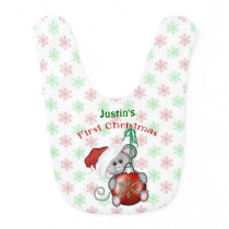 Christmas Mouse, Baby's First Christmas Baby Bib