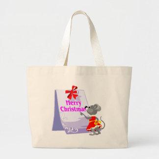 Christmas Mouse Tote Bag