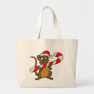Christmas Mouse Canvas Bag