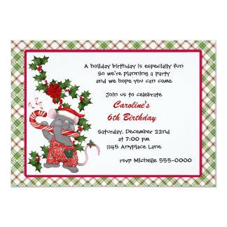Christmas Mouse Birthday Invitation