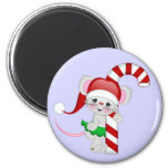Christmas Mouse Candy Cane Magnets
