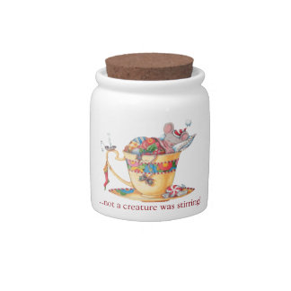 Christmas Mouse Candy Jar