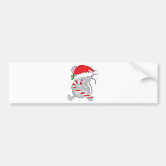 Christmas mouse car bumper sticker