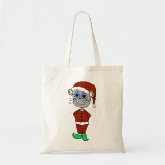 Christmas Mouse Cartoon Tote Bag