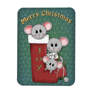 Christmas mouse design magnet