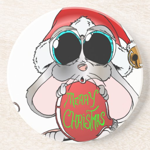 Christmas Mouse Drink Coaster