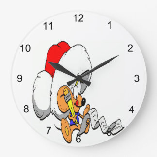 Christmas Mouse Large Clock