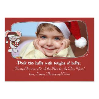 Christmas Mouse - Photo Holiday Card