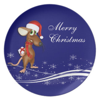 Christmas Mouse Party Plate