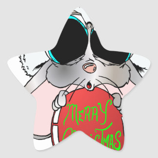 Christmas Mouse Star Sticker