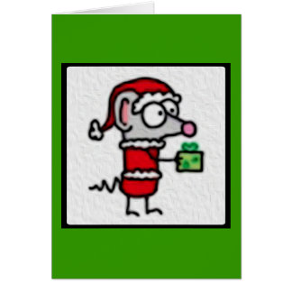 Christmas Mouse Stationery Note Card