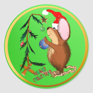 Christmas Mouse Sticker
