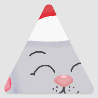 Christmas Mouse Triangle Sticker