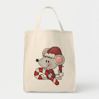 Christmas Mouse With Candy Cane Bag
