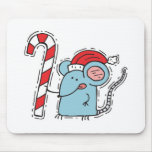 christmas mouse with candy cane mouse mats